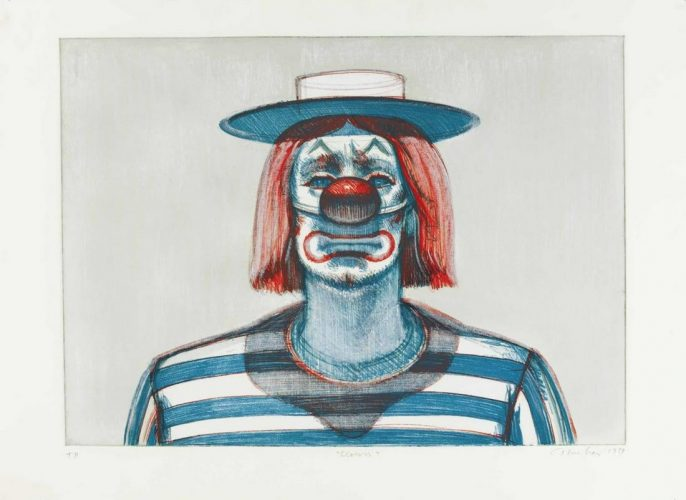 Clown from Recent Etchings I by Wayne Thiebaud at