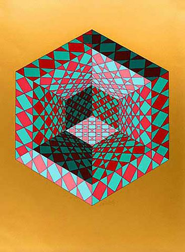 Bi-Sanction by Victor Vasarely at