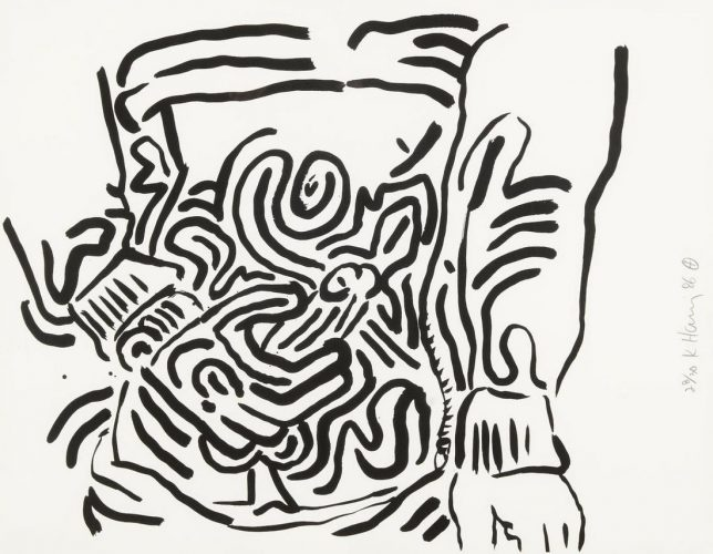 "Plate 2 from ""Bad Boys"" by Keith Haring at"