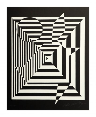 Yablapour II by Victor Vasarely at