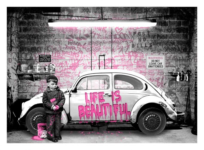 New Paint Job (Pink) by Mr. Brainwash at