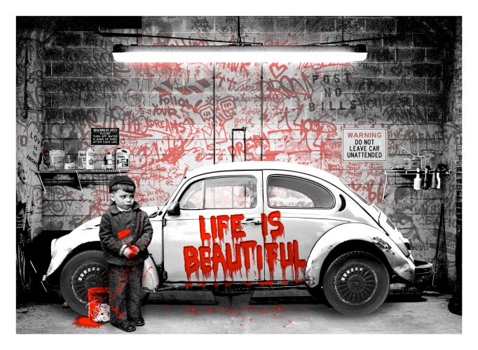 New Paint Job (Red) by Mr. Brainwash at