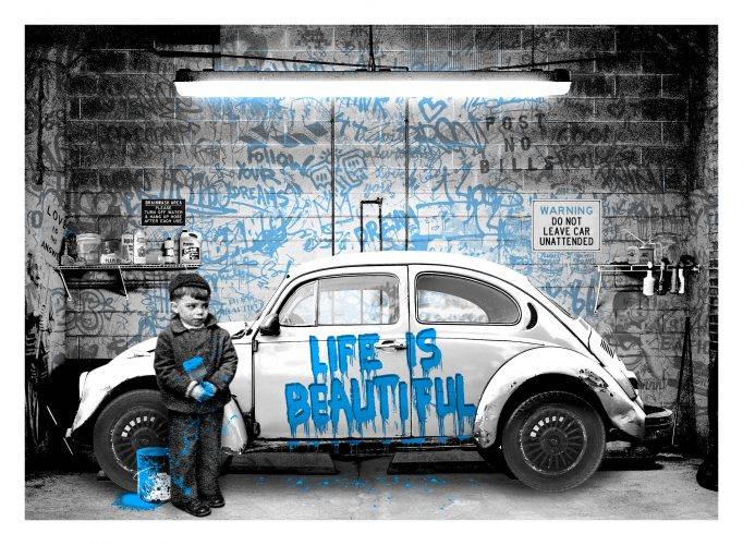New Paint Job (Blue) by Mr. Brainwash at