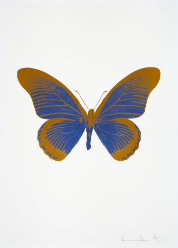 The Souls IV – Frost Blue – Paradise Copper by Damien Hirst at