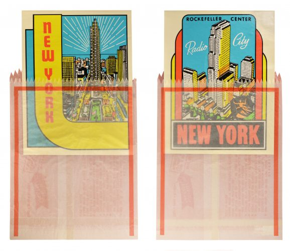 New York Decals 3 and 4 by Joe Tilson at