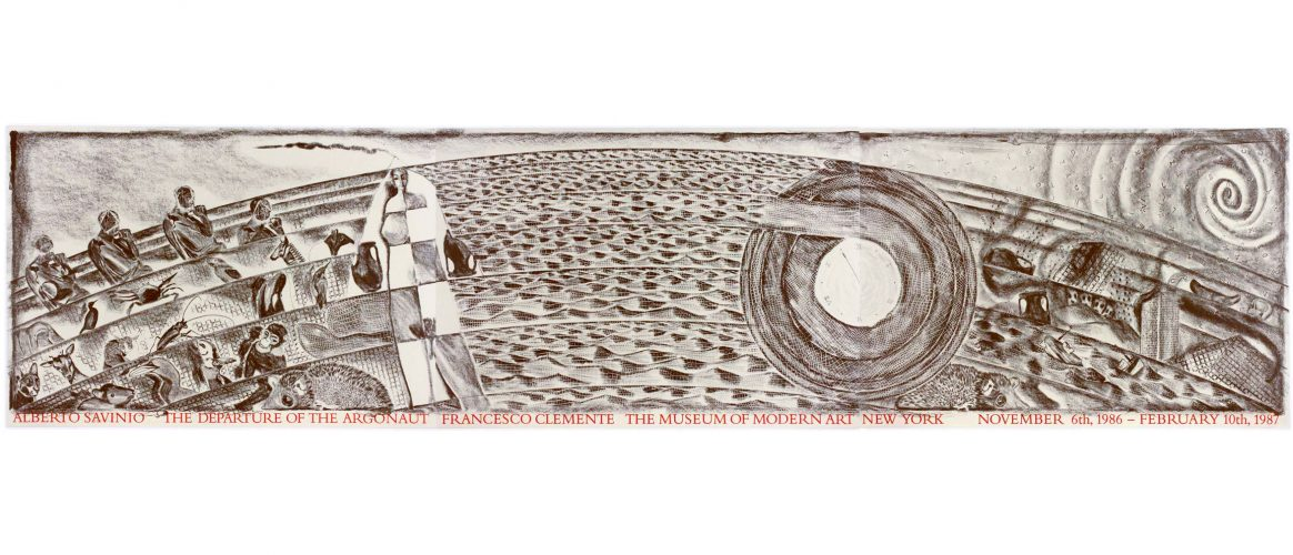 Museum of Modern Art 1986 (Untitled A on 3 sheets) by Francesco Clemente at Francesco Clemente