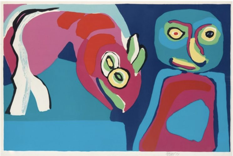 Personnage et cheval by Karel Appel at