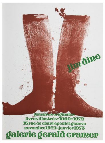 Galerie Gerald Cramer 1973 (Silhouette Boots on Brown Paper 1972) by Jim Dine at