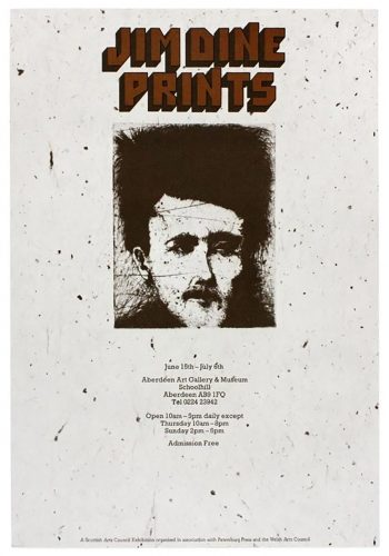 Aberdeen Art Gallery 1974 (Rimbaud, Alchemy on Japanese Paper 1973) by Jim Dine at