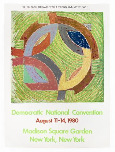 Democratic National Convention 1980 (Polar Coordinate IV 1980) by Frank Stella at