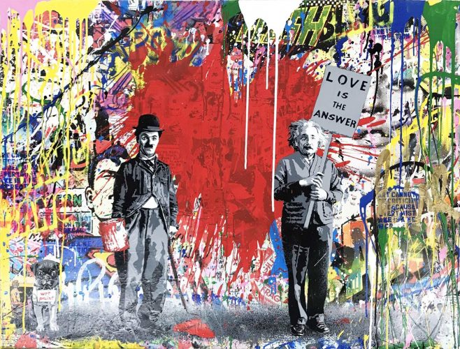 Juxtapose by Mr. Brainwash at Mr. Brainwash
