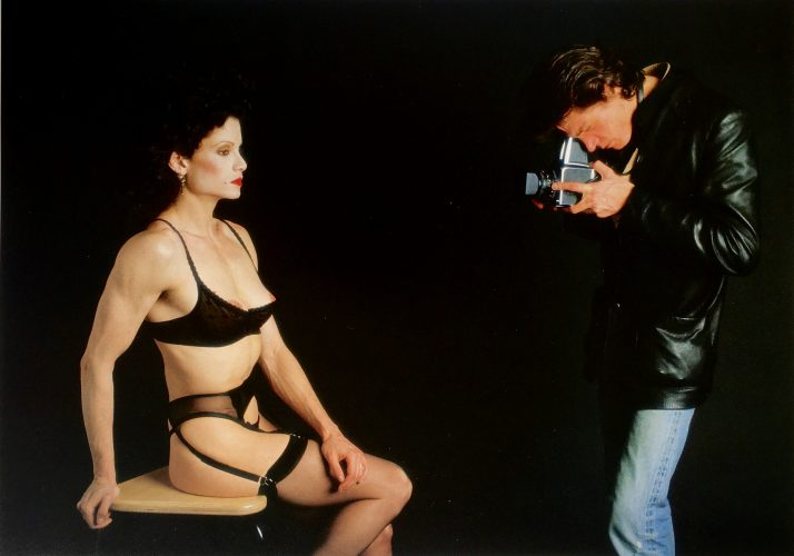 Roger Fritz portrait: Robert Mapplethorpe photographing Lisa Lyon (1983) by Robert Mapplethorpe at