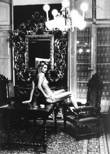 Portrait of Charlotte Rampling (1973) by Helmut Newton at