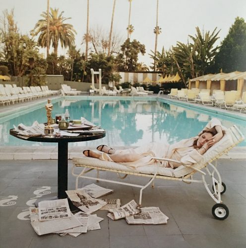 The Morning After, Faye Dunaway At The Pool (1977) by Terry O'Neill at