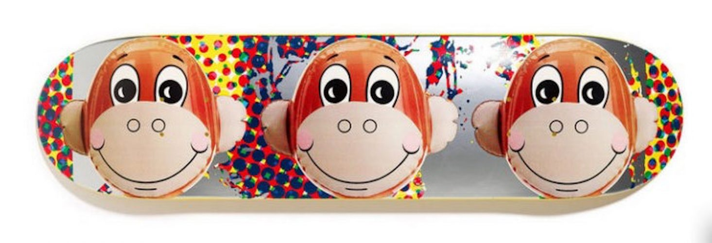 Monkey Train Skate Deck by Jeff Koons at