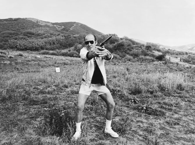 Hunter S Thompson by Michael Ochs at