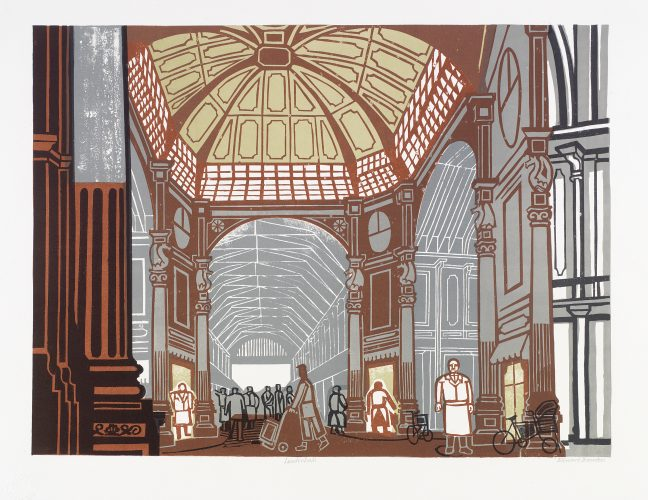 Leadenhall Market by Edward Bawden at Osborne Samuel Gallery