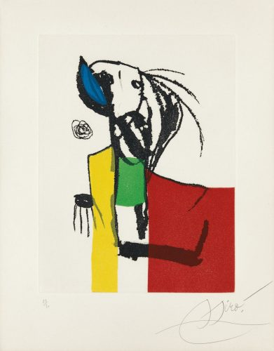 Chanteur des rues IV by Joan Miro at