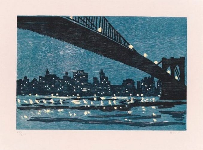 Brooklyn Bridge by Richard Bosman at