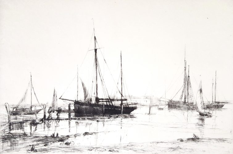 Crab Boats, Southampton Water by Aileen Mary Elliot at