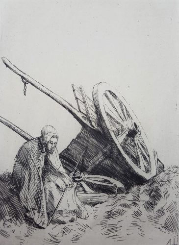 La Charrette (The Cart) by Alphonse Legros at