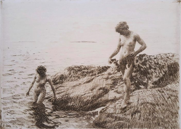 Seaward Skerries by Anders Zorn at