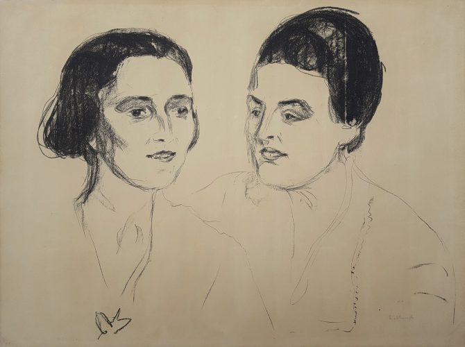 Louise and Else Heyerdahl by Edvard Munch at