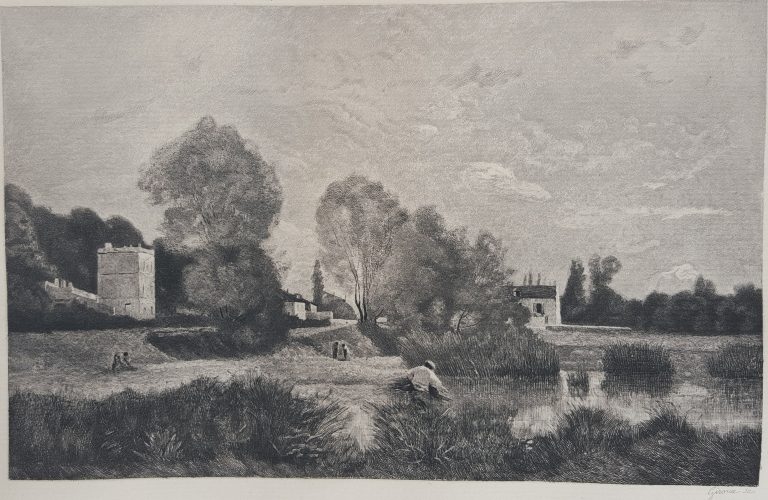L'Etang a Ville d'Array by Jean-Baptiste-Camille Corot at