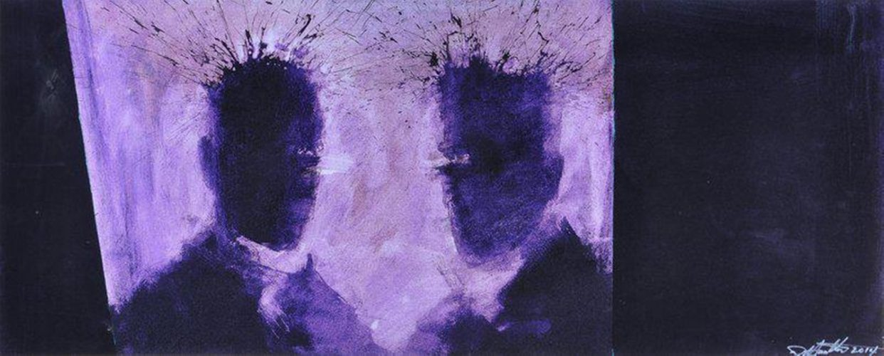 Purple Shadow Heads by Richard Hambleton at
