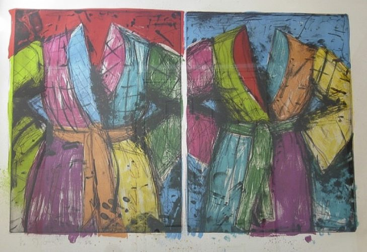 Two Florida Bathrobes by Jim Dine at