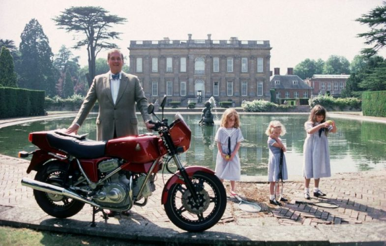' Motorcycling Lord ' 1990 Slim Aarons Limited Estate Stamped C Print by Slim Aarons at