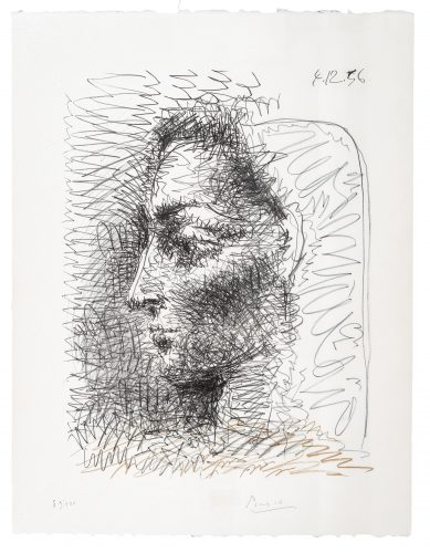 Portrait de Jacqueline by Pablo Picasso at