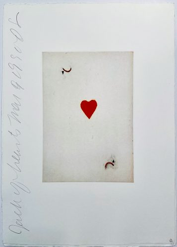 Playing Cards: Jack of Hearts by Donald Sultan at
