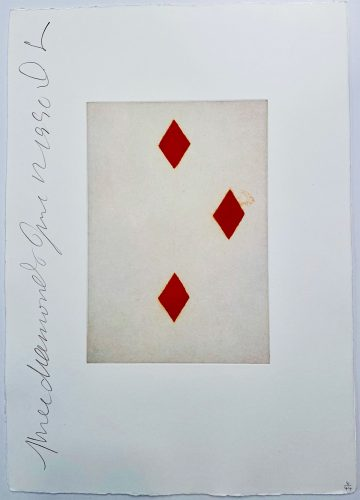 Playing Cards: Three of Diamonds by Donald Sultan at