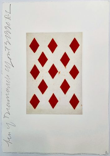 Playing Cards: Ten of Diamonds by Donald Sultan at