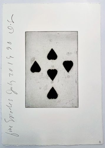 Playing Cards: Five of Spades by Donald Sultan at