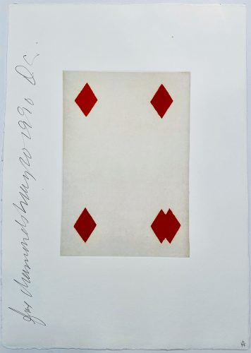 Playing Cards: Four of Diamonds by Donald Sultan at