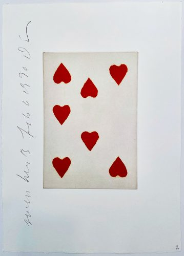 Playing Cards: Seven of Hearts by Donald Sultan at