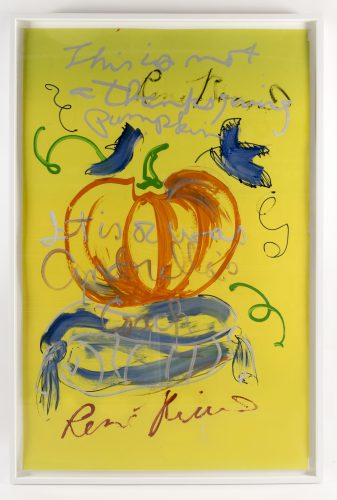 This is not a Thanksgiving Pumpkin by Rene Ricard at Rene Ricard