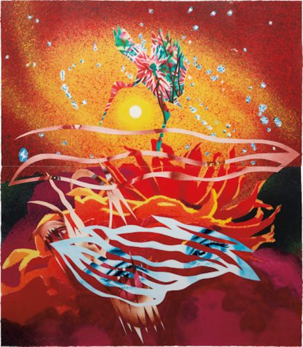 The Bird of Paradise Approaches the Hot Water Planet, from Welcome to the Water Planet Series by James Rosenquist at