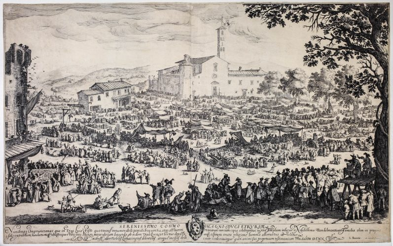 La Foire de l'Impruneta, 2nd plate by Jacques Callot at