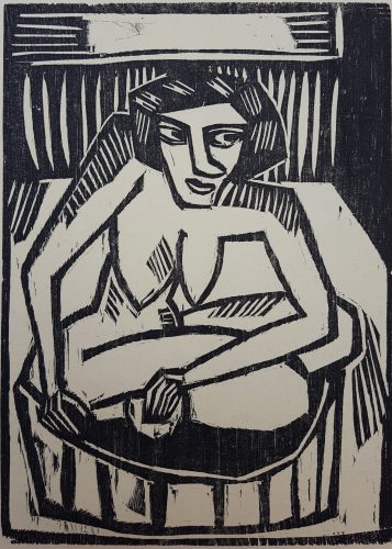 Frau in der Wanne (Woman in Tub) by Karl Schmidt-Rottluff at