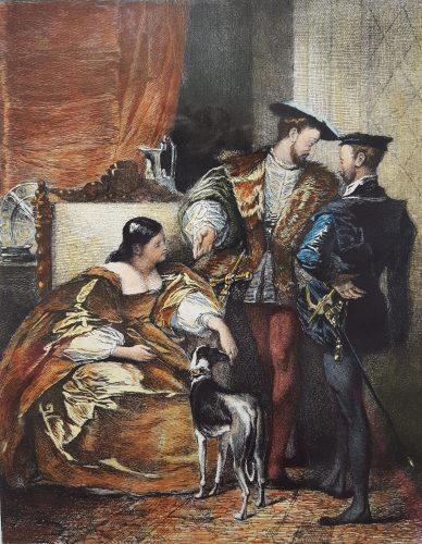 Francis the First and the Duchess of Étampes by Léopold Flameng at