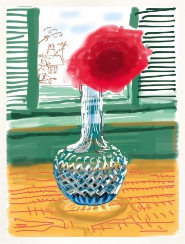 My Window – iPhone Drawing 281 by David Hockney at