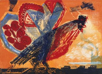 Giant Cockerel by Michael Rothenstein at