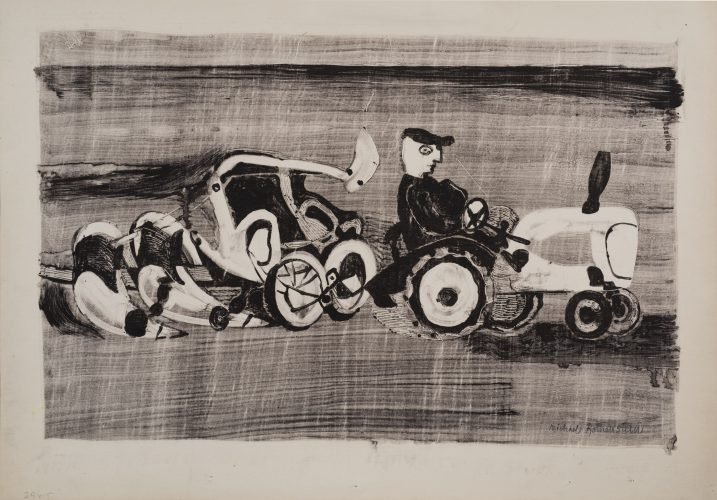 Ploughing by Michael Rothenstein at