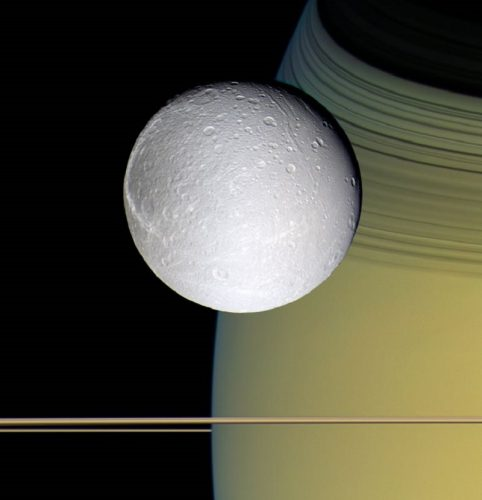 ' Dione ' 2005 Science Photo Library Print by Science Photo Library Archive at Science Photo Library Archive