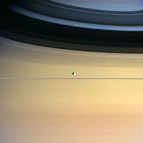 ' Dione and Saturn ' 2005 Science Photo Library Print by Science Photo Library Archive at Galerie Prints