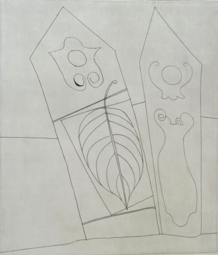 Turkish Forms with Leaf by Ben Nicholson at