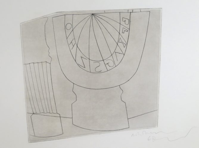 Turkish Sundial with Column by Ben Nicholson at